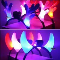 baby attention - Baby toys Flash glow antlers Hairband colors Cool creative prom performances Christmas decorations Attract attention at night