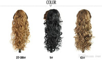 Wholesale 2015 Europe and United States new fashion style popular wig High temperature wire curls long cm hair clip