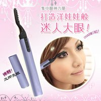 Wholesale 2015 New electric Foldable Heated Eyelash Curler pen shape Eyelash Curler heated eyelash curler free shiping