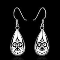 Cheap Chinese Ethnic styles earrings 925 Pure silver e582 gift box Free Fashion New Jewelry Brincos de Prata