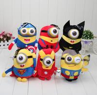 Wholesale 150pcs CM Despicable Me Doll Baby Toy The Avengers Minions Captain America Superman Spider Man Batman Thor Plush Toy
