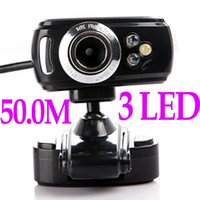 Wholesale Hot Sale USB M LED PC Camera HD Webcam Camera Web Cam with MIC for Computer PC Laptop