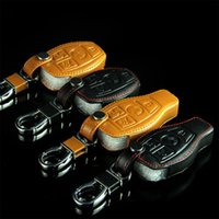 Wholesale New Leather Car Key Cover For Mercedes Benz GLK300 CLA200 ML350 S Class E260L C200 Etc High quality