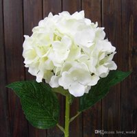 Wholesale Real Looking White Hydrangea Flower cm quot Artificial Hydrangeas for Wedding Centerpieces Flowers Home Party Decorative Flowers