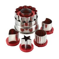 Wholesale Cake Boss Piece Classic Linzer Cookie Cutter Set Red