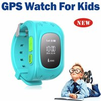 Wholesale 2015 Mini GPS Tracker Watch For Kids SOS Emergency Anti Lost Smart Mobile Phone App Bracelet Wristband Two Way Communication OLED screen