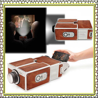 assemble cardboard box - Cardboard Smartphone Projector Assembled Phone Projector Portable Cinema in a box perfect present for the gadget lover