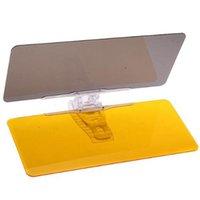 Wholesale 2015 New Car Protective Parasol Sun Shade Sunshade Shield Mirror Clip Night Vision