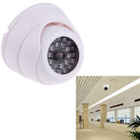 Wholesale Security Dome Camera protector device for Home office Dummy Fake Surveillance tools Flashing LED Light high quality