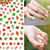 autumn leaf stickers - Canada Maple leaf autumn Fall DIY Tip Nail Art Decal Nail Sticker Gel Nails Castle Bunny Butterfly Beauty Salon Vocation