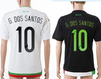 Wholesale 15 Customized Thai Quality Mexico Home G DOS SANTOS Black Jersey Cheap Mexico Jersey Discount Cheap away Mexico jerseys white jerseys