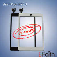 Wholesale New iPad mini For the third iPad mini Touch Screen Digitizer with home butoon adhesive Free DHL Shipping