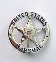 Wholesale The United States Federal Law Enforcement Officer Insignia Badge of Fine Workmanship Copper Made Collection Metal Badge Gold Sliver Color