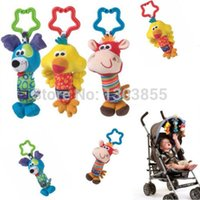 Wholesale Kids Baby Soft Toy Animal Handbells Rattles Bed Stroller Bells Developmental Toy yellow duck