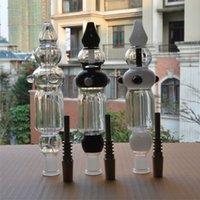 Concentré de plate-forme pétrolière Prix-Qualité Nectar Collector Pipes Kit concentré en verre avec Titanium Nail Dab Il Quartz Tip Mini verre Bongs Cire fumeurs Oil Rigs