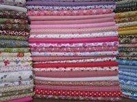 Cheap 50 pcs DIY textile cotton fabric delicate squares 100% cotton fabric quilt scrap Mixed Designs Cotton Fabric Patchwork Patterns