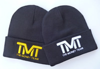 acrylic beanie - Retail Fashion Ski Beanies Camp hat D logo TMT the money team beanies sports hats men women s sports skullies beanie caps