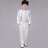 Wholesale 6sets Children Formal Occassion Apparel Sequins Design Blazer Suits Wedding Party Prom Tuxedo Outfits wyb003