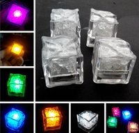 Wholesale Xmas Gift Romantic LED Ice Cubes Flash Color Auto Changing Crystal Cube For Valentine s Day Party Wedding Water Actived Light up