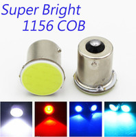 Wholesale 10PCS Super White Red Blue Cob p21w Led SMD ba15s v bulbs Trailer Truck Car Styling Light parking Auto Car Signal lamp