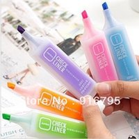 Wholesale South Korea creative stationery flavor candy color fluorescent color highlighter marker pen