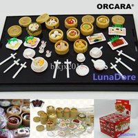 Wholesale ORCARA Japanese Kitchen Food Miniature Dollhouse Cantonese Chinese Dim Sum Re ment Size Set of Dolls Accessories