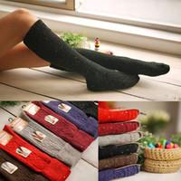 thigh high socks - S New Ladies Thigh High Plain Over Knee Womens Long Stretch Cotton Overknee Socks