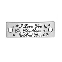 antique gold tone - New Fashion Easy to diy i love you to the moon and back connector charms metal antique silver tone jewelry making fit for