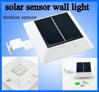 Wholesale 5pcs Wall lamp Solar Powered Sensitive Motion Sensor LEDs Outdoor Detection auto Light gardens villa backyards building corridor