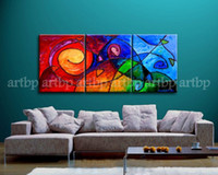 abstract pictures meaning - Fishing For Meaning Oil Painting On Canvas Abstract Knife Panel Set Wall Art Art Canvas Rolls Large Wall Pictures For