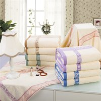 air yarn - cotton towel thickening single double cotton towel blanket yarn blanket air conditioning blanket