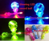 bear flash game - hot Kendama Japanese LED flash Free DHL Professional Japanese Traditional Kendama Japanese Wood Game Toy Kendama Ball colorful