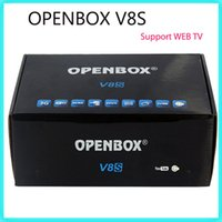 Wholesale Openbox V8S S V8 Digital Satellite Receiver Support WEBTV Biss Key xUSB Slot Wifi G Youporn CCCAMD NEWCAMD DHL