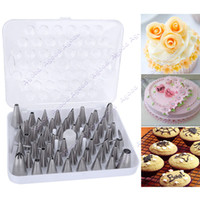 Wholesale 52pcs Icing Piping Nozzles Pastry Tips Fondant cake Sugarcraft Decorating Tool Sets SV003113