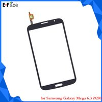 For Samsung 9200 Touch Screen for Samsung Galaxy Mega 6.3 i9200 Touch Screen Digitizer Glass Lens Parts Free DHL Shipping Q0811