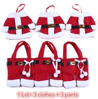 ape shape - 2015 Hot Mini Clothes Pants Sh2015 Hot Mini Clothes Pants Shaped Christmas Santa Claus Cutlery Suit aped Christmas Santa Claus Cutlery Suit