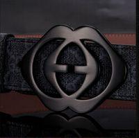 Belts canvas belts - 2014 new hip brand buckle G designer belts for men women genuine leather gold cinto belt Men s chalk L