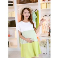 Wholesale Kimisohand New Hot PC Colors Chiffon Clothes For Pregnant Women Pregnant Belly Dress Clothing Plus Size