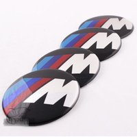 Wholesale 4pcs set mm Car Auto Tyre Wheel Center Cover Stickers HubCap Stickers Emblems Badge Decal Fit For BMW M Power