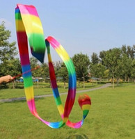 sports ribbon - Rhythmic gymnastics ribbons wands sports dance long ribbons streamers sticks magic wands confetti Sporting Goods colorful