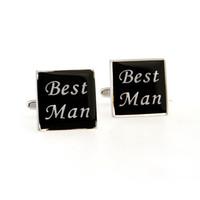 Wholesale Men s Cufflinks for Wedding Ceremony Black Color