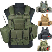 assault vest - Tactical vest military Law Enforcement SWAT Vest plate carrier airsoft vest Sportsman navy seal assault vest coyote d camo