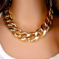 Wholesale 2015 New K Gold Silver Plated Necklaces For Women girls Gift CCB Statement sweater Chain chokers Necklace fashion plastic Jewelry N34