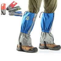 Wholesale 4 Colors Outdoor Hiking Walking Climbing Hunting Snow Waterproof Leg Gaiters Protection With Adjustable Elastic Band