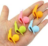 Wholesale Random Color Cute Snail Shape Silicone Tea Bag Holder Cup Mug Candy Colors Gift Set GOOD