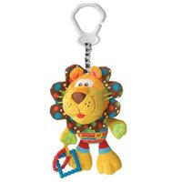 Wholesale New Baby Plush Toy Crib Bed Hanging Ring Bell Lion baby Toys Soft Baby Rattle Early Educational Doll