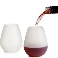 Wholesale New Hot Portable Silicone Wine Liquor Glass Durable Unbreakable Stemless Bar Beer Drinking Cups Mug Supplies
