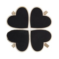 Wholesale FS Hot Heart Shape Blackboard Wooden Pegs Photo Note Paper Clips order lt no track
