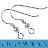 925 sterling silver wire - 1000PCS USD MM Earring Findings Sterling Silver earring hooks Nickel Free Beads Jewelry Findings earrings Wire