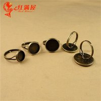 Cheap Fit 10MM 12MM 14MM 16MM 18MM 20MM jewelry accessories wholesale adjustable DIY bezel ring settings wholesale, blank ring bases